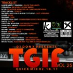 DJ Don X TGIF Quick mix Vol 25