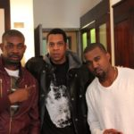 Pictures of Kanye West with D'banj and Don Jazzy