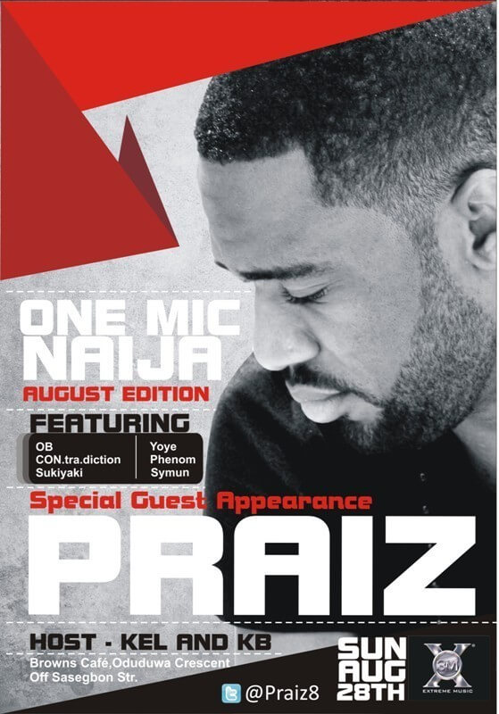 One Mic Naija Flyer