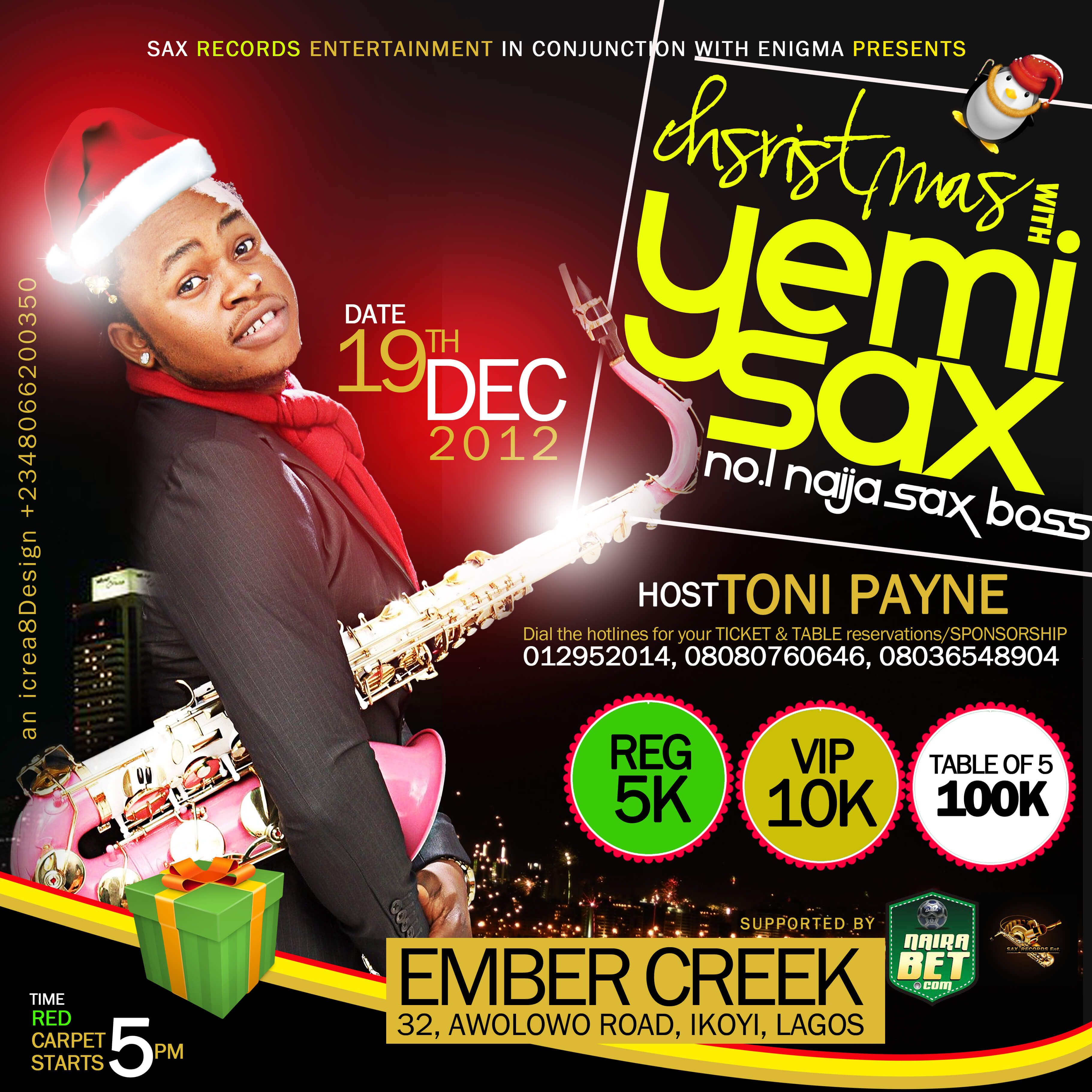 christmas with yemi sax Banner
