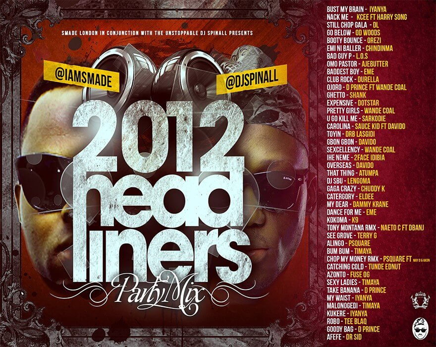 2012 Headliners Party Mix ArtWork