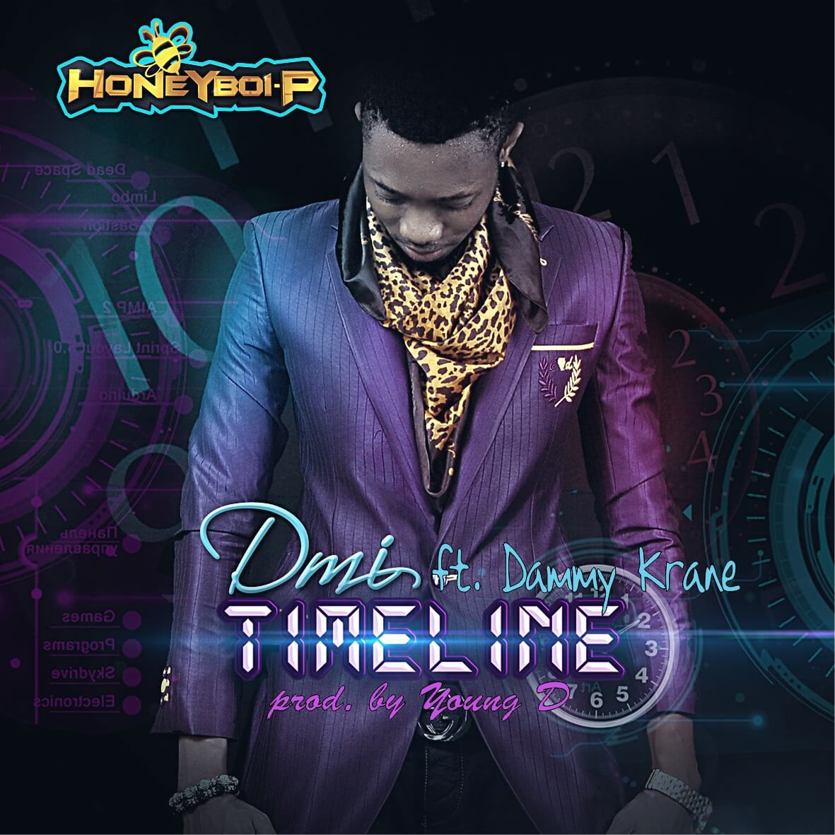 DMI ft. Dammy Krane - TIMELINE [prod. by Young D] Artwork