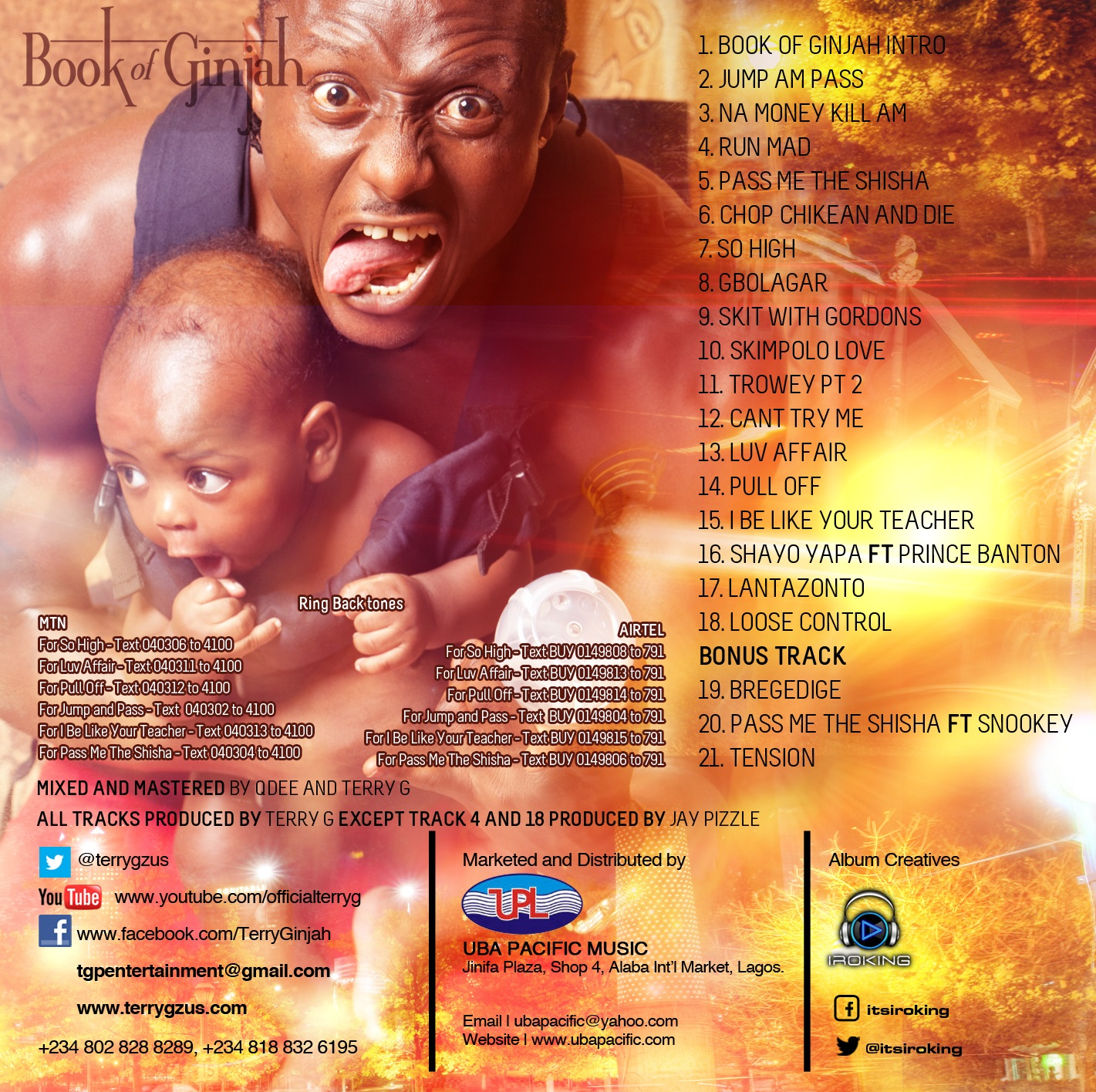 Terry-G-Book-of-Ginjah-Track-listings