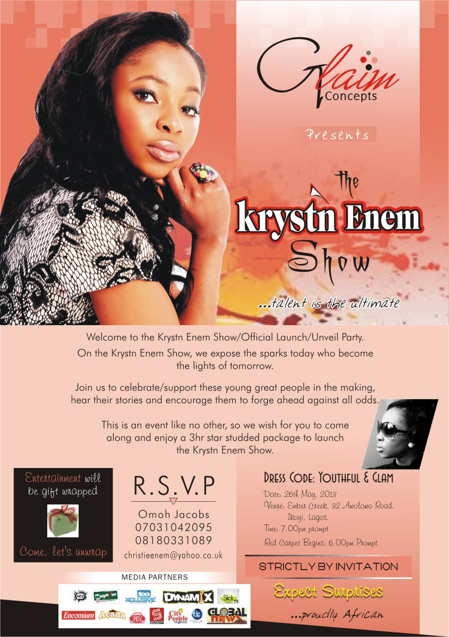 The Krystn Enem Show - Flyer