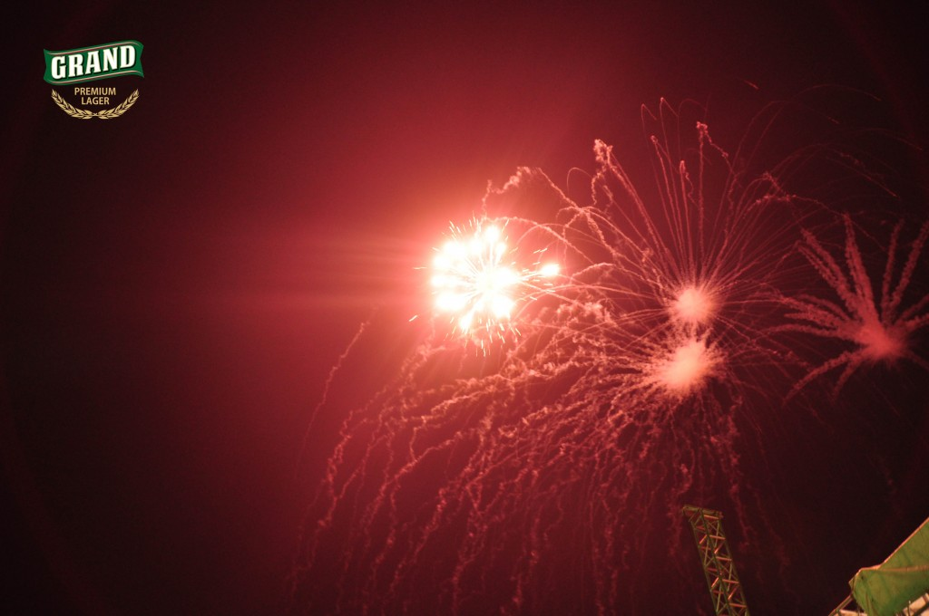 Fire Works at Grand Lager relaunch