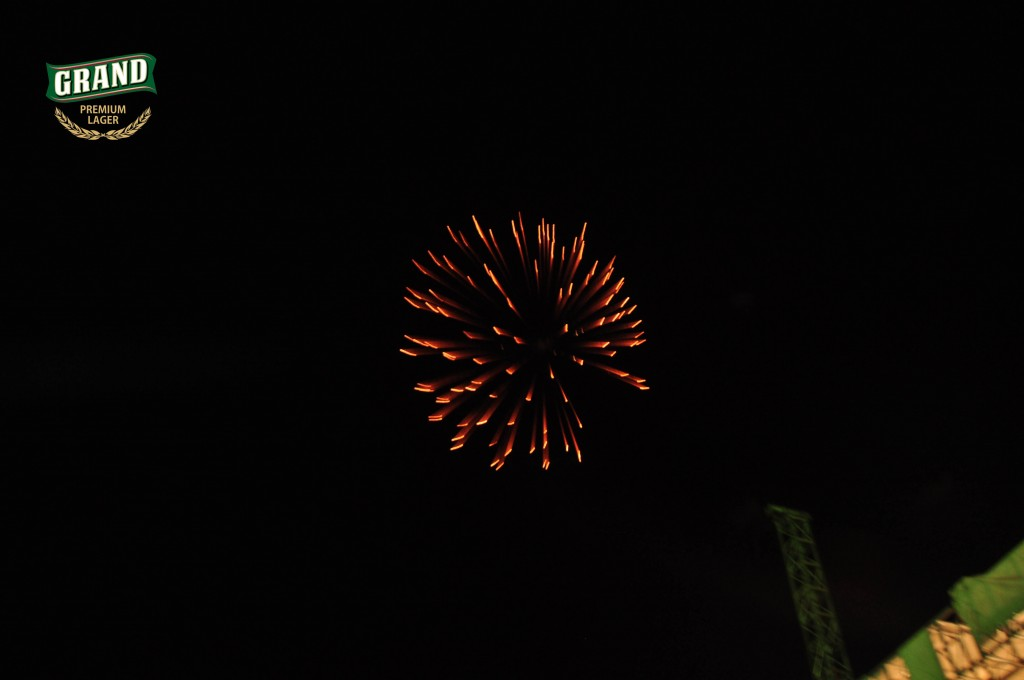 Fire works at Grand Lager Concert