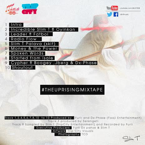 Slim T - The Uprising Mixtape back1