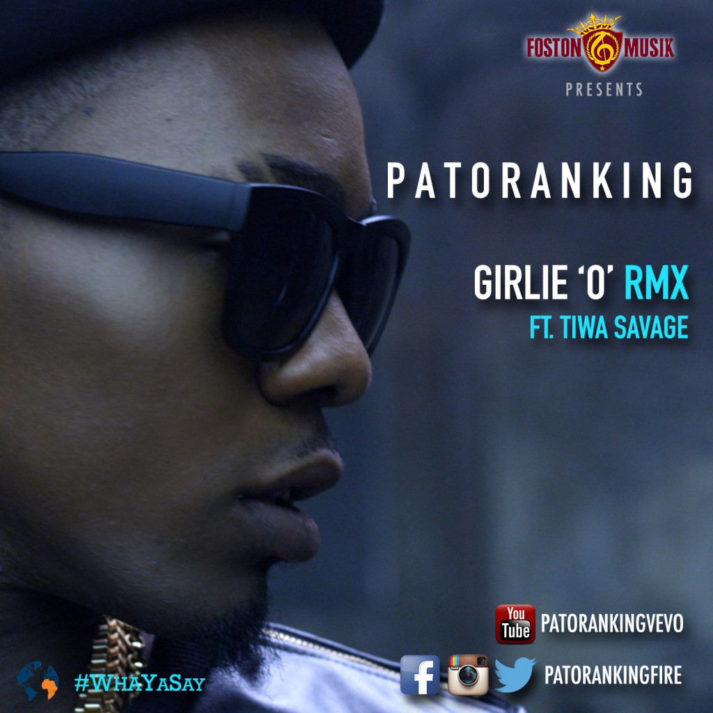 Patoranking - Girlie 'O' Remix (ft. Tiwa Savage)-ART-tooXclusive.com