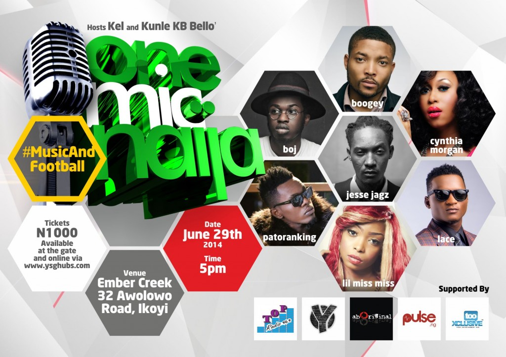 One Mic Naija June 2014 Flier Art
