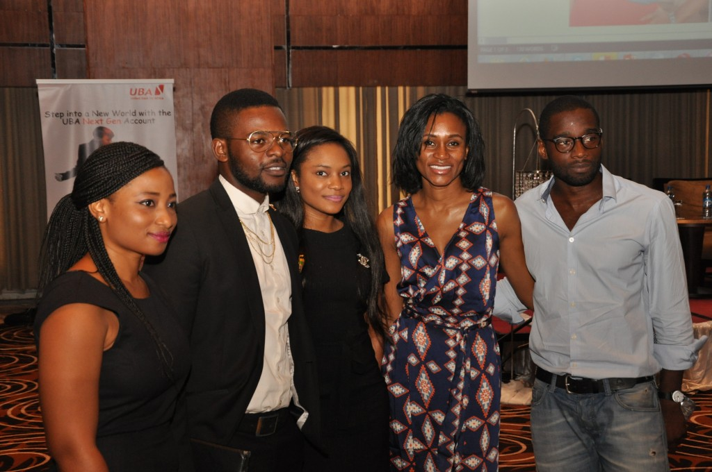 "UBA's new generation of loyal customers at the product Launch of UBA's tailor made ""Next-Gen"" account in Lagos today"