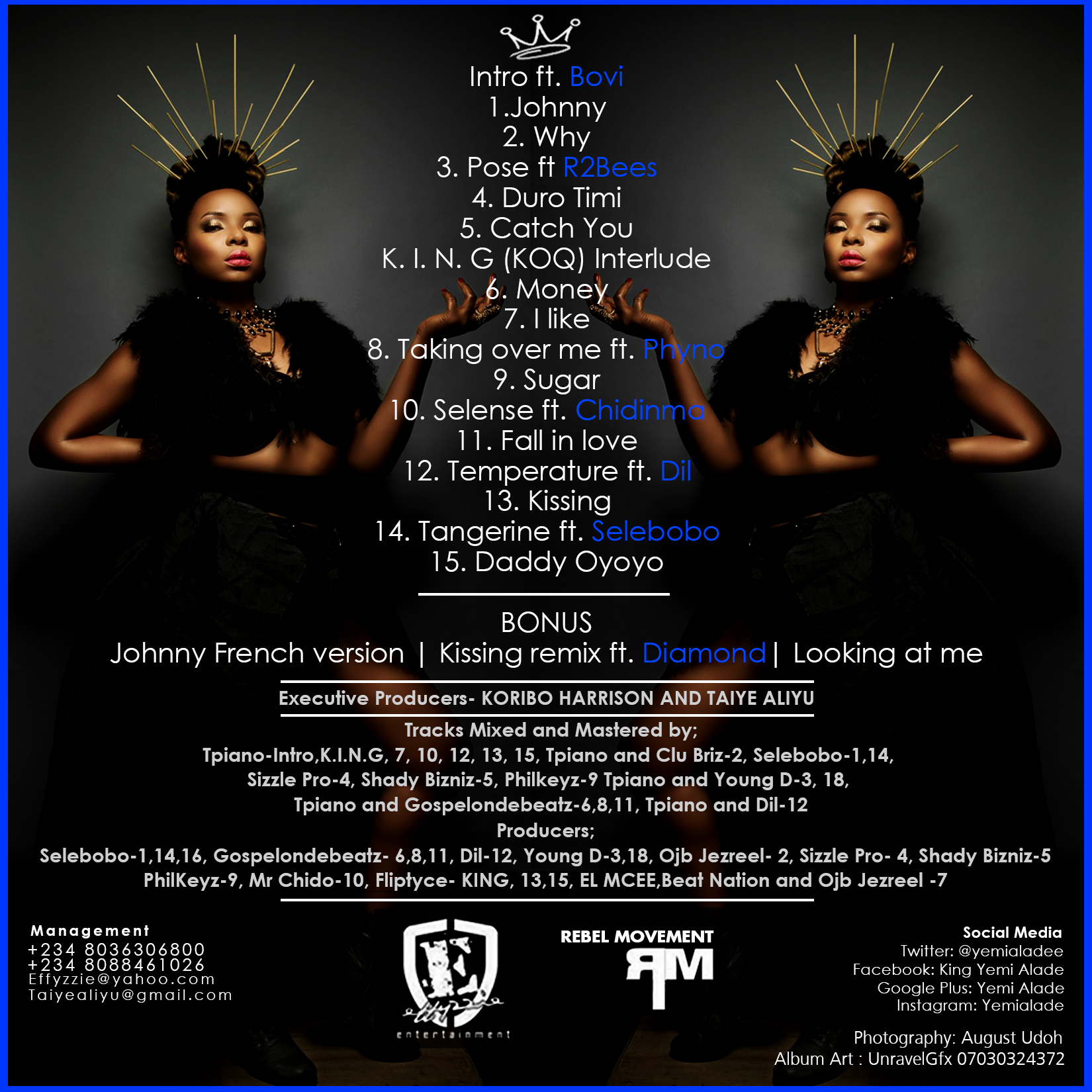 Yemi Alade - King Of Queens [Album Art Back]