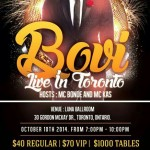 Event: Bovi Live In Toronto Oct 10th