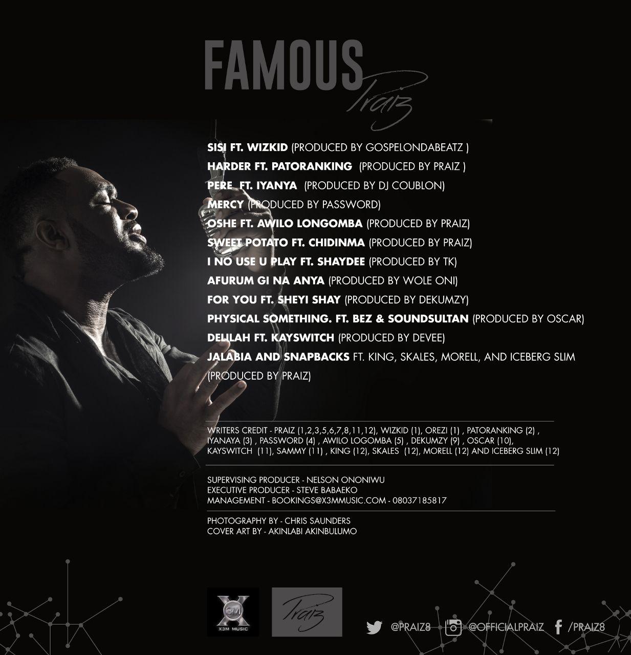 Praiz - Famous (Album Art)-Back