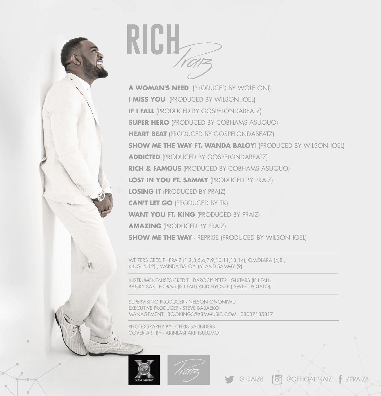 Praiz - Rich (Album Art)-Back