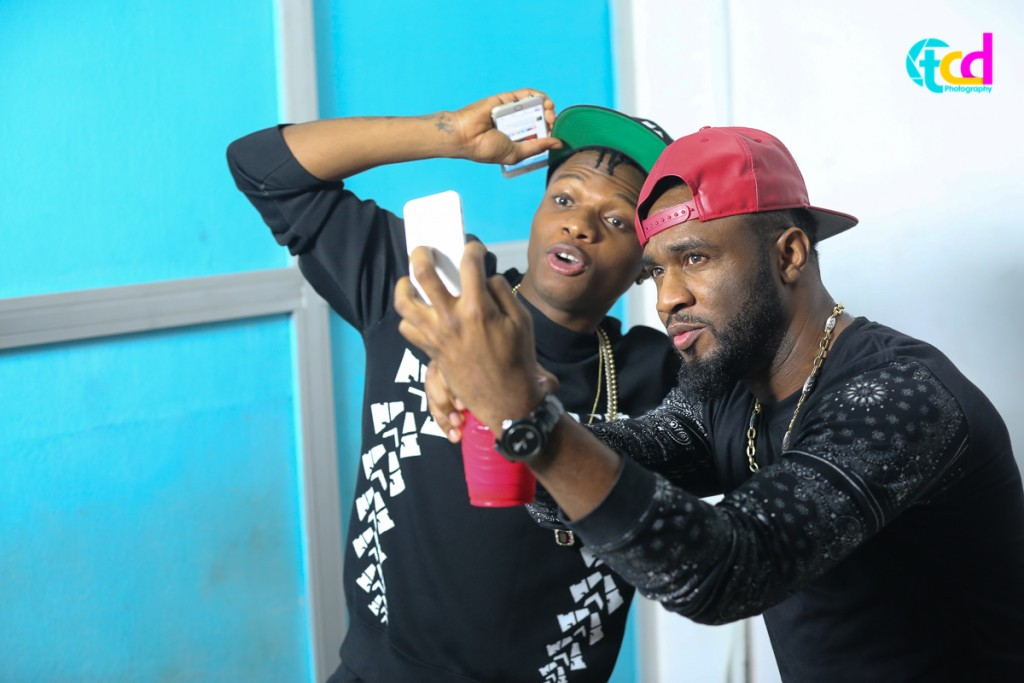 Praiz Shoots 'Sisi' video featuring Wizkid (1)