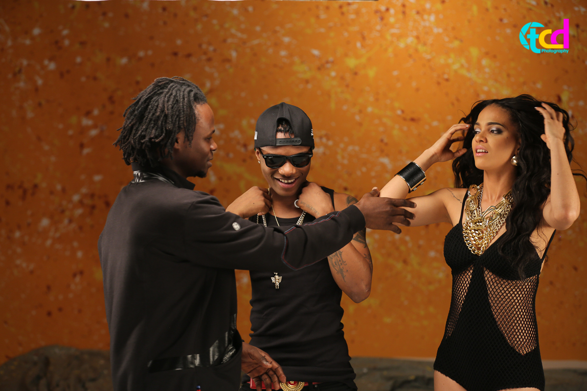 Praiz Shoots 'Sisi' video featuring Wizkid (2)
