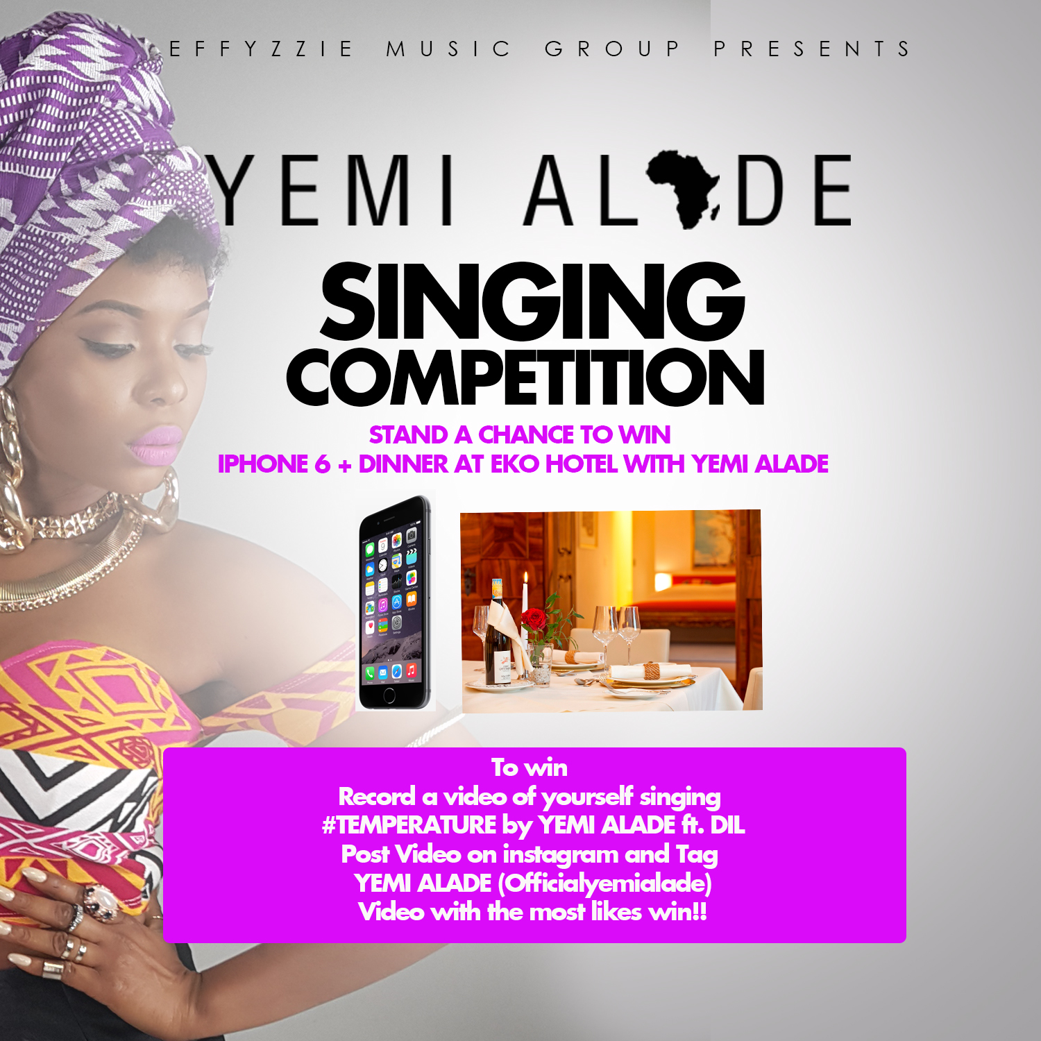 Yemi Alade #TemperatureSingingContest