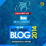 tooXclusive Wins Best Music Blog @ Nigerian Blog Awards 2014