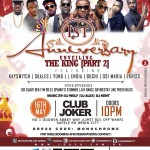 """Club Joker's 1st year Anniversary Presents: """"Unveiling The King (Part 2)"""""""