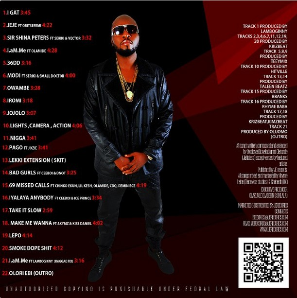 JahBless - I Am Me - Album Art [Back]