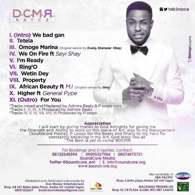 Rayce-DCMR-Tracklist