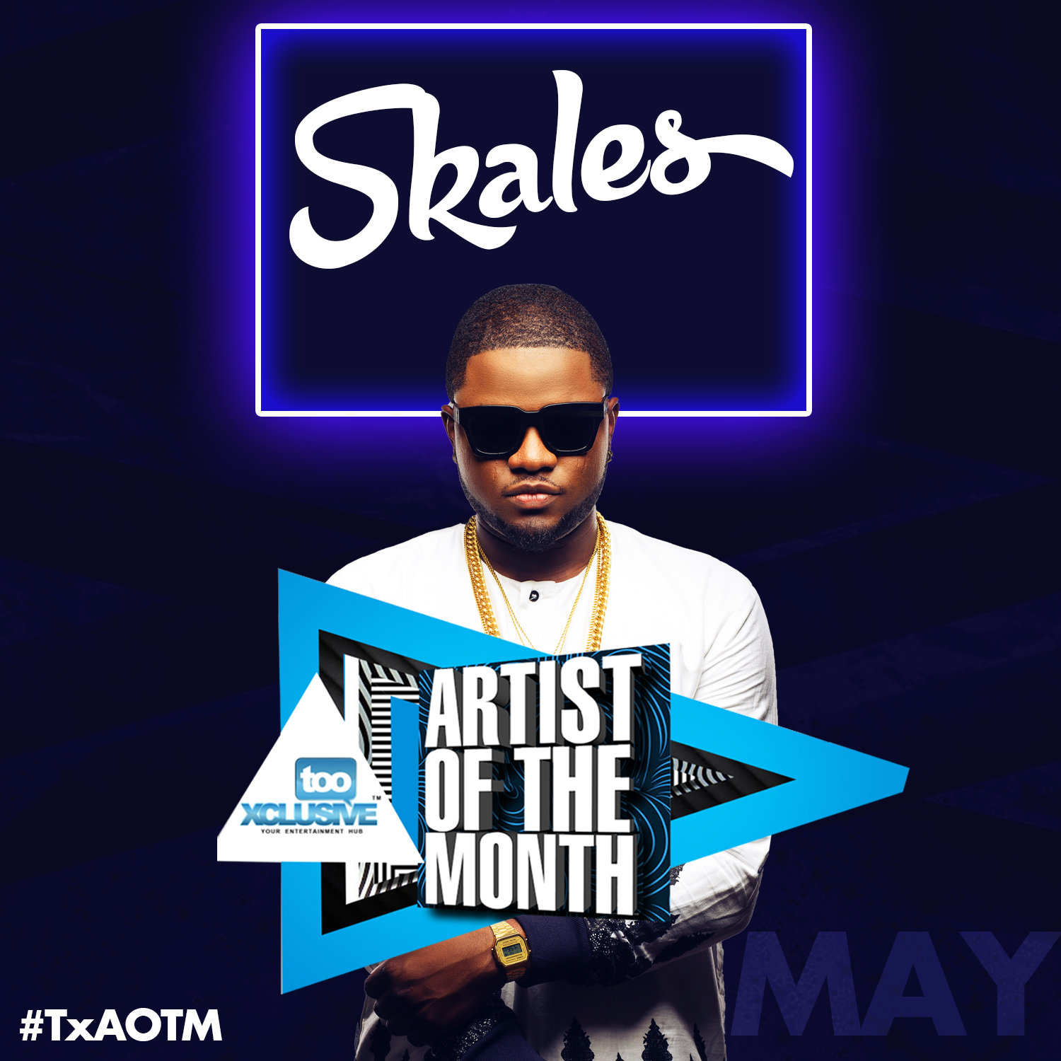 TX Artiste of the Month #TxAOTM – Skales [POSTER]