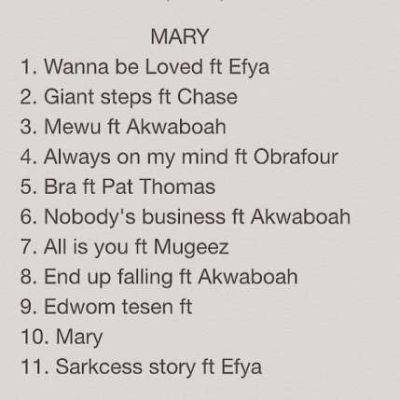 Sarkodie - Mary [Album Tracklist]
