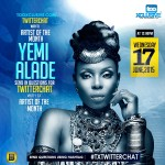 "Join #TXTwitterChat Today by Noon with #TxAOTM – ""Yemi Alade"""