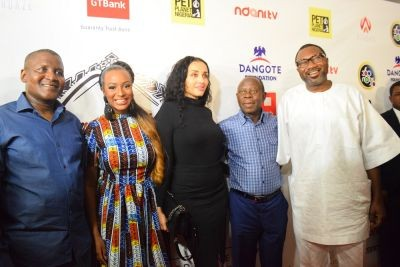Aliko Dangote,Dj Cuppy,Adams Oshomole & Wfe With Femi Otedola