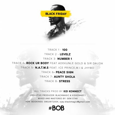 BlackMagic - Black Friday -TRACKLIST