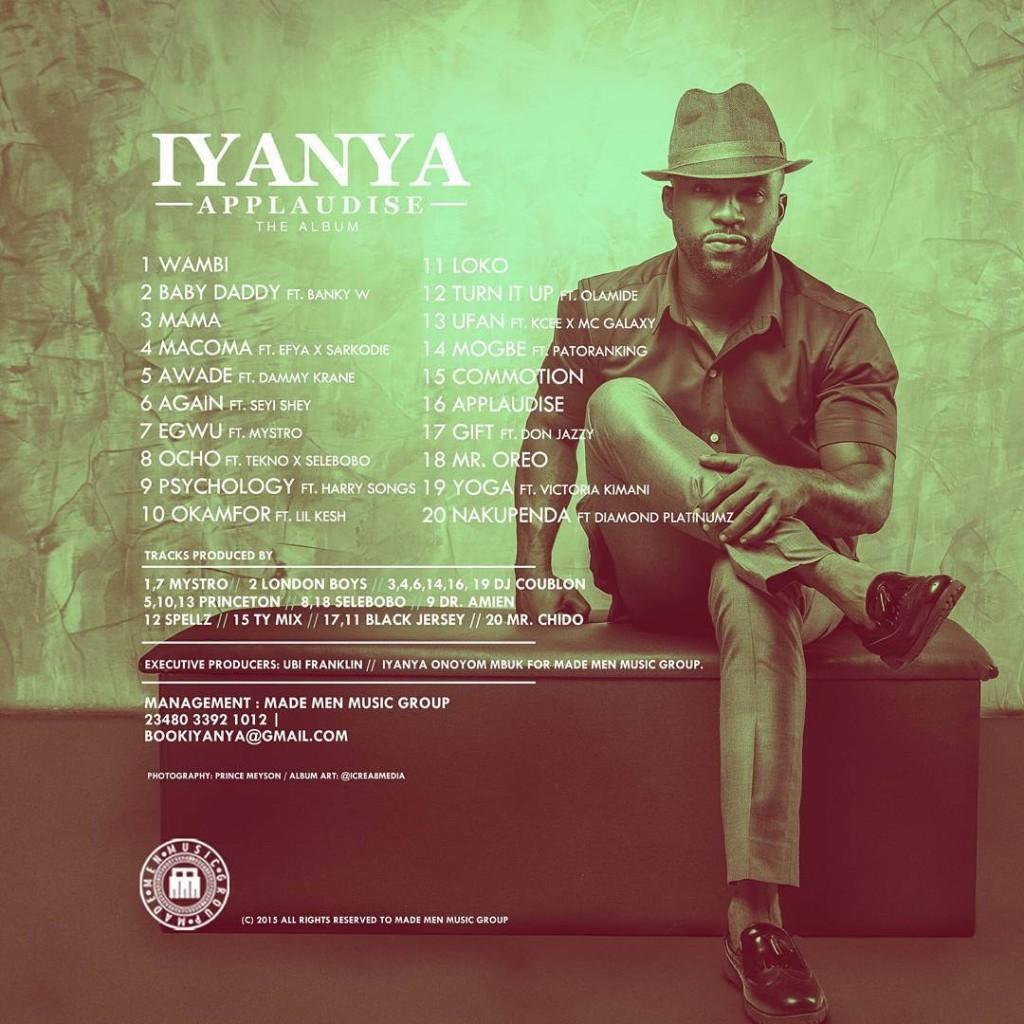 Iyanya – Applaudise (Album Tracklist)