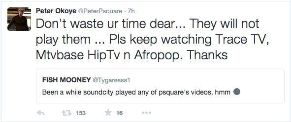 P-Square & Fan Tweet