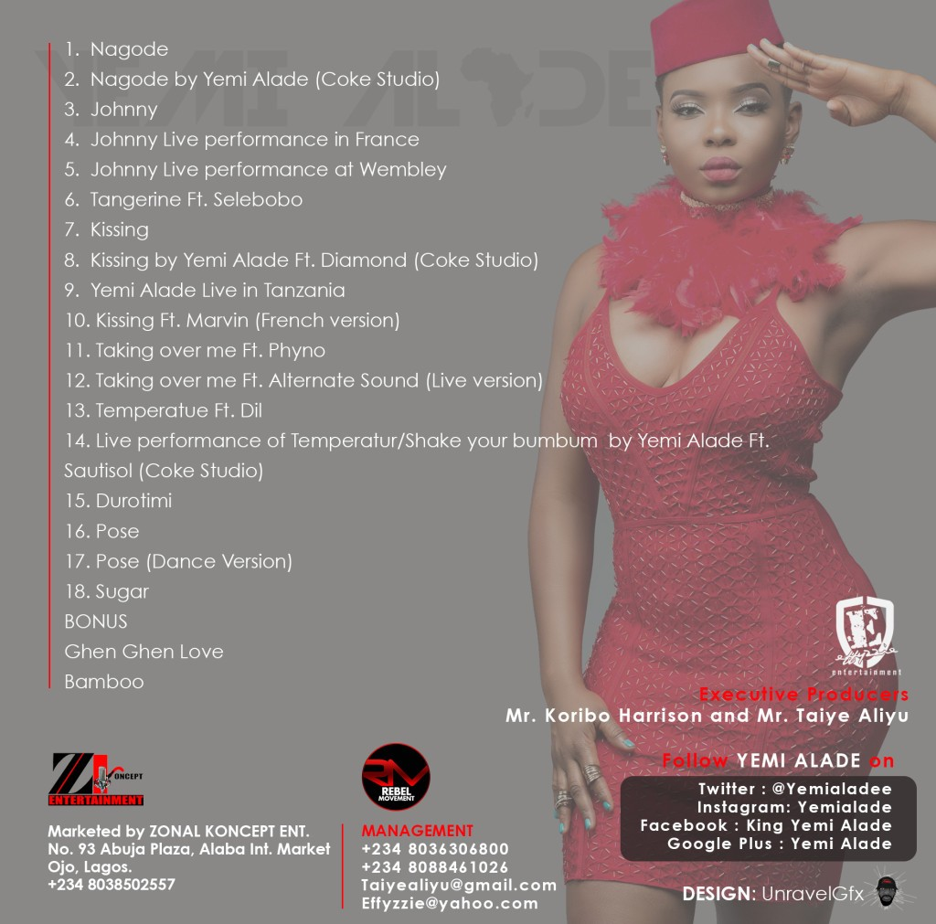 Yemi Alade - Looking For My Johnny [Visual Album Art Back]