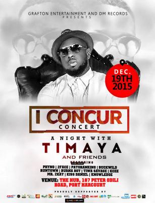 Timaya - I Concur [Concert Flyer]