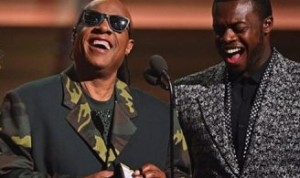 Kevin Olusola and Stevie Wonder