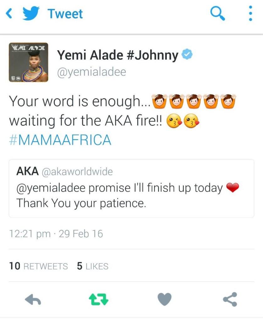 Yemi Alade & AKA Tweet