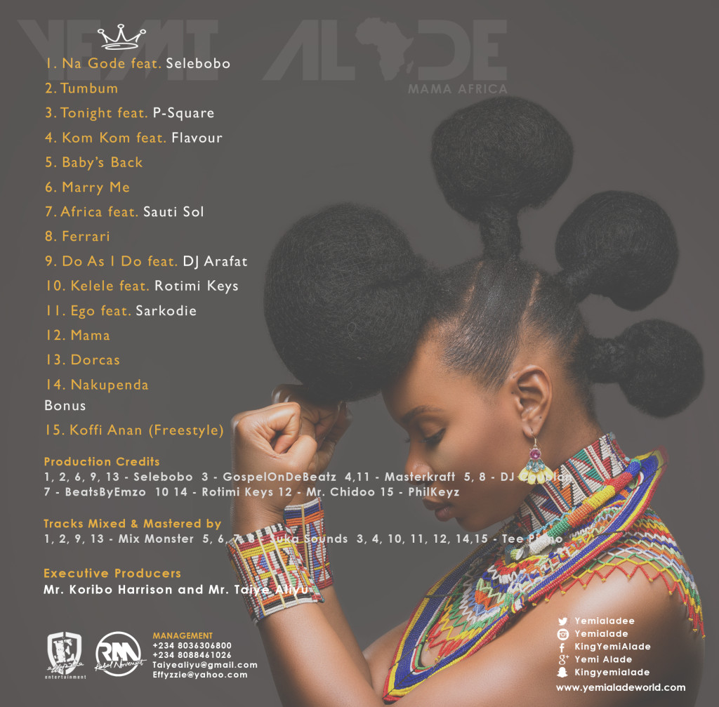 Yemi Alade - Mama Africa [Tracklist]