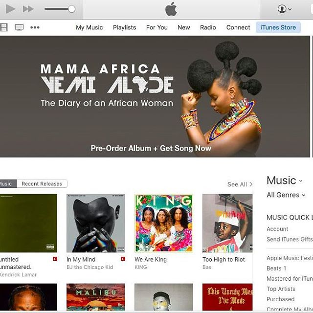 Yemi Alade's #MamaAfrica on iTunes
