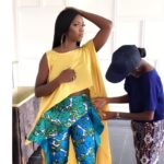 Tiwa Savage On Set Of A Music Video (Photos)