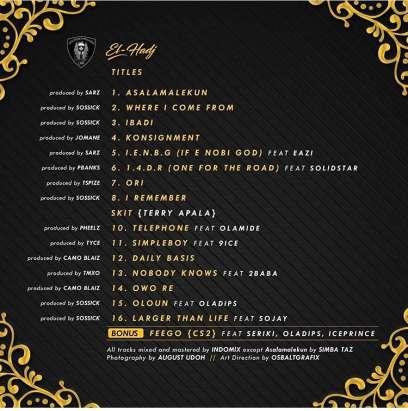Reminisce-s-El-Hadj-tracklist