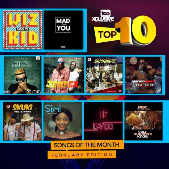 Top 10 Songs For The Month Of February