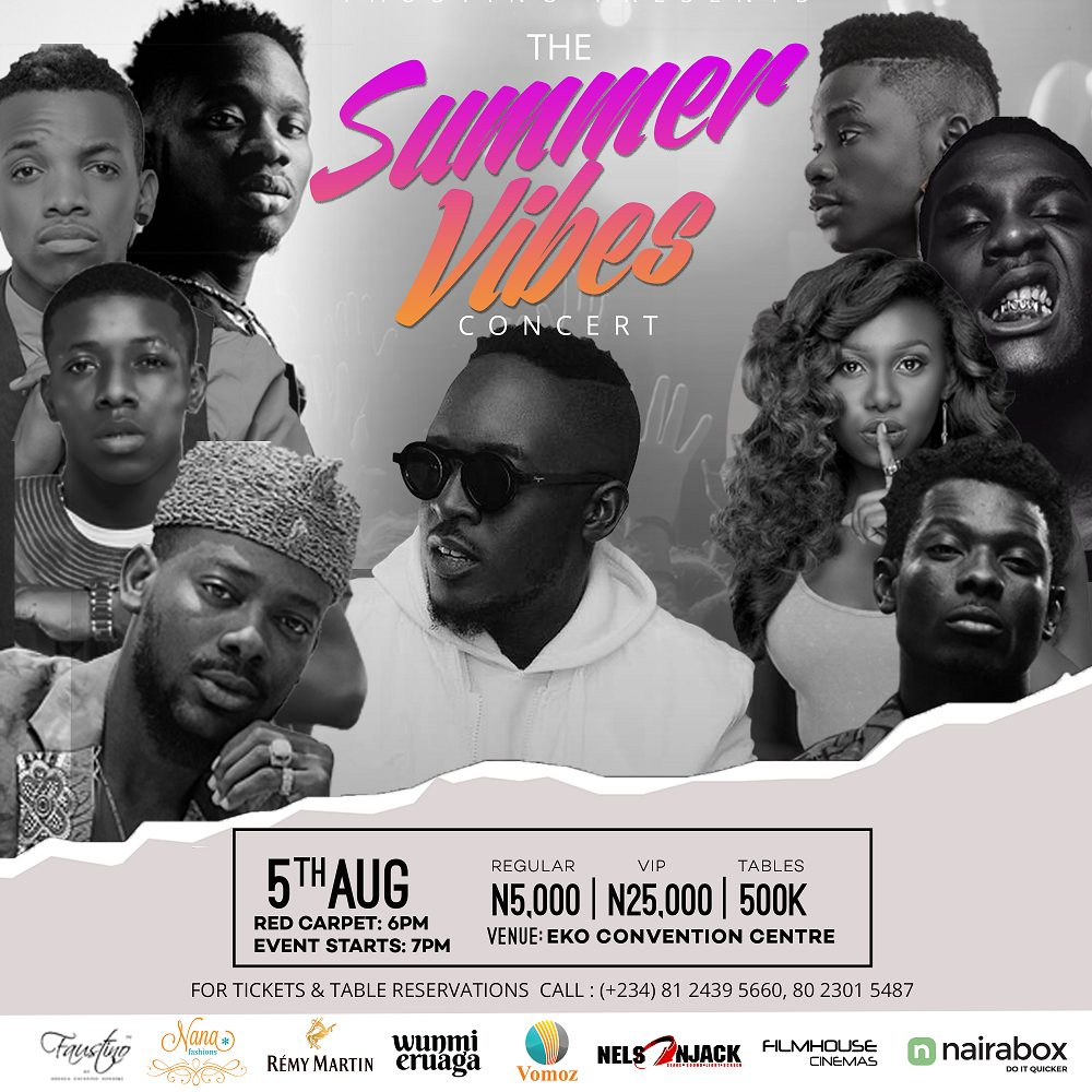 The Summer Vibes Concert with M.I, Tekno, Mr. Eazi, Burna Boy, Adekunkle Gold, Lil Kesh & More!