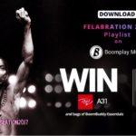 Win Big This Felabration Season! Download The 'Felabration 2017' Playlist On Boomplay Music & Win itel Smartphones & BoomBuddy Essentials!