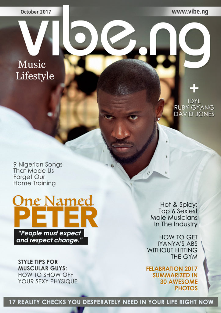 """P-Square Might Come Back Together If The Respect Is Back"""" Peter Okoye Exclaims As He Covers Vibe.ng Magazine"""