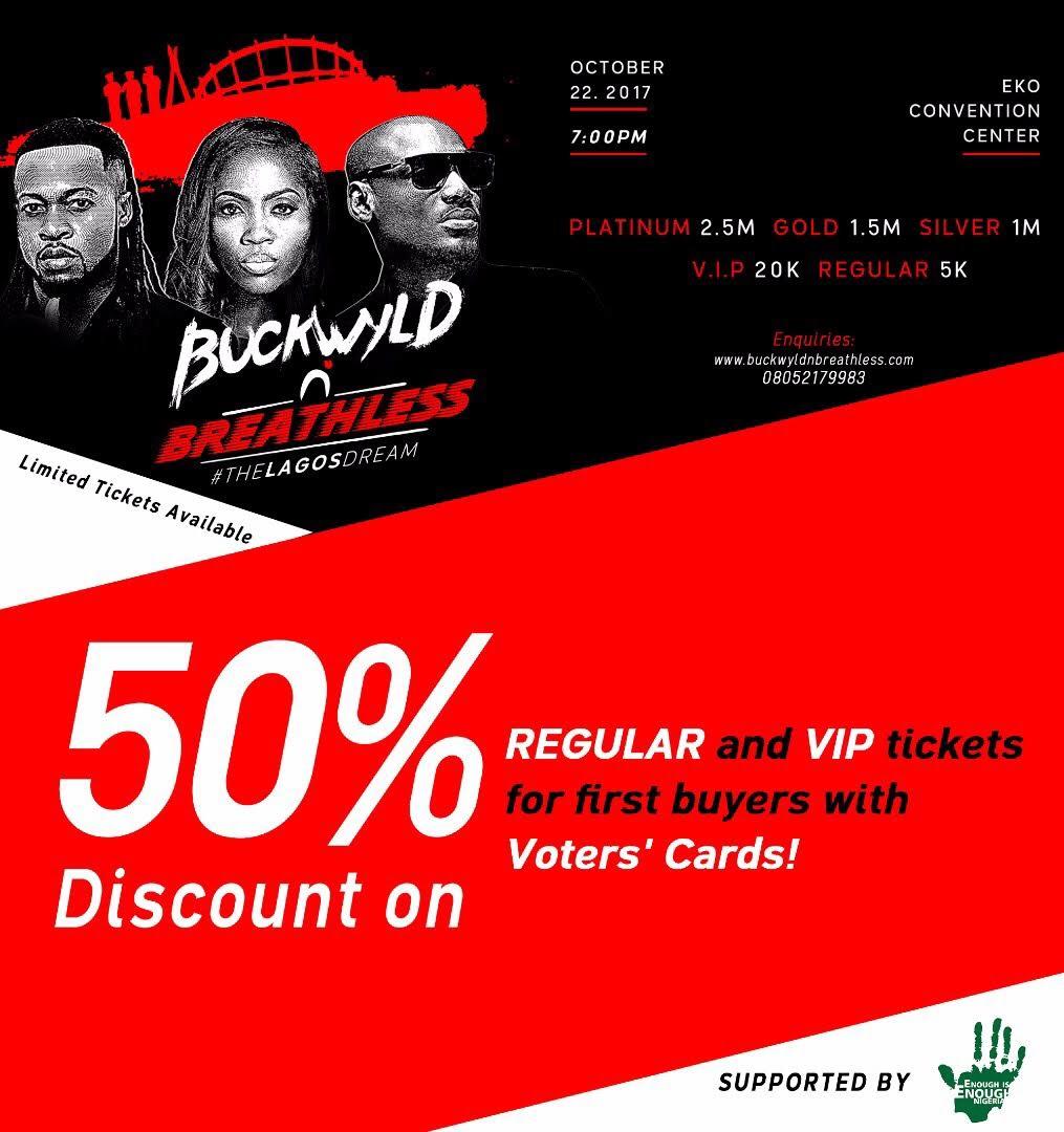 50% Off Buckwyld n' Breathless Ticket Sales