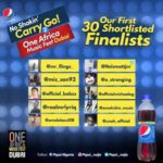 PEPSI REVEALS SHORTLIST OF POTENTIAL #NOSHAKINCARRYGO2DUBAI WINNERS