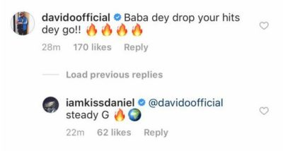 "kiss-daniel-woju-remix-ft-davido ""Baba Dey Drop Your Hits Dey Go"" – Davido Stands With Kiss Daniel"