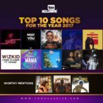 TOP 10 MUSIC BANGERS FROM THE YEAR 2017