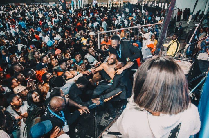 Video: Two Horrible Things Happened At Davido's Show In Namibia