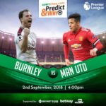 Sportcheq.com Predict & Win Game. Manchester Utd Vs Burnley.